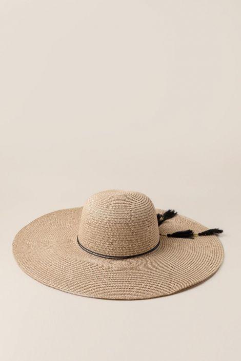 Alessa Tassel Floppy Hat at francesca's