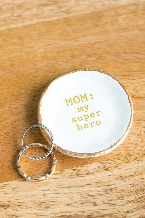 Mom: My Super Hero Trinket Dish at francesca's