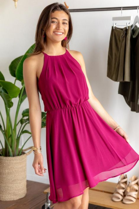 Flawless Solid Dress at francesca's