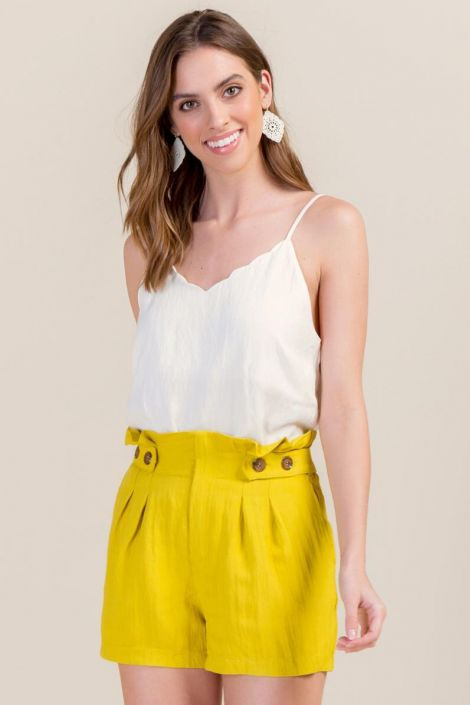 Camila Paperbag Waist Classic Shorts at francesca's