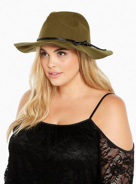 Double Banded Panama Hat at Torrid