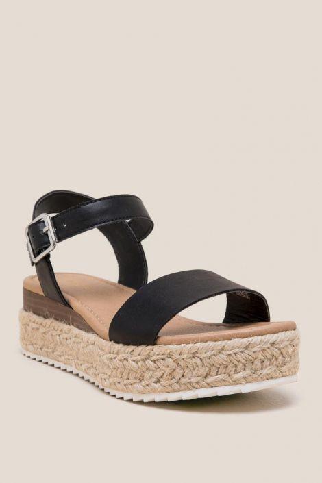 Chimney Espadrille Flatform Sandal at francesca's