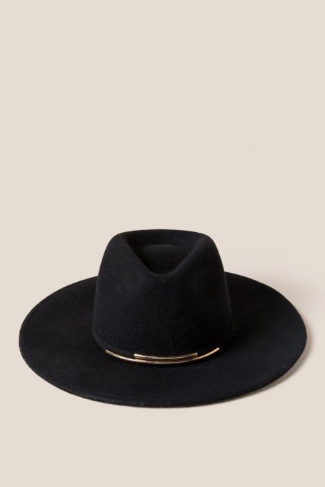 Sabrina Wool Panama Hat at francesca's