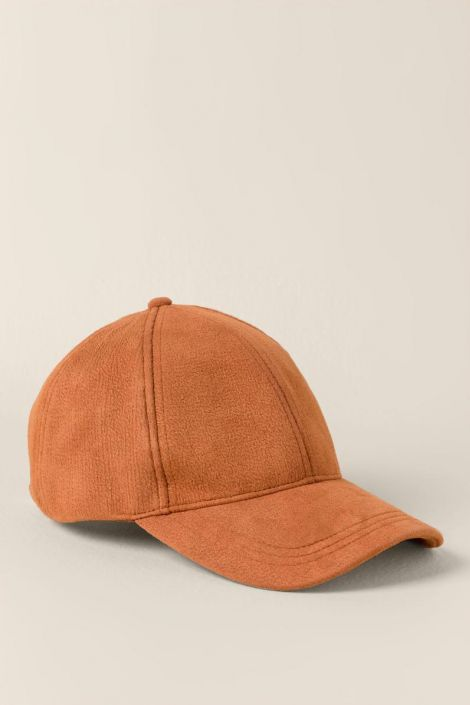 Remy Suede Baseball Cap in Rust at francesca's