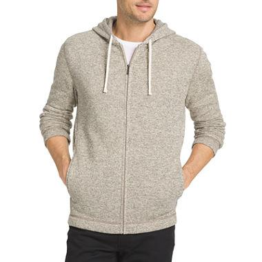 Van Heusen® Long-sleeve Fleece Sweater Hoodie at JCPenney