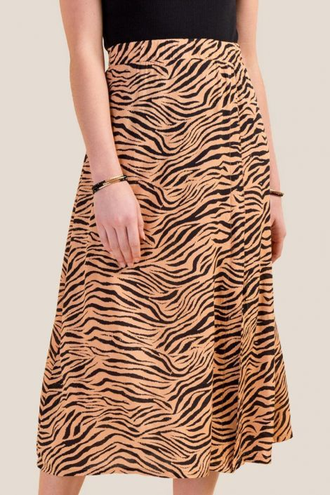 Miranda Animal Print Midi Skirt at francesca's