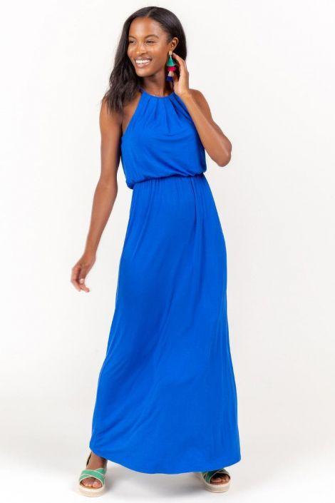 Flawless Knit Maxi Dress in Blue at francesca's