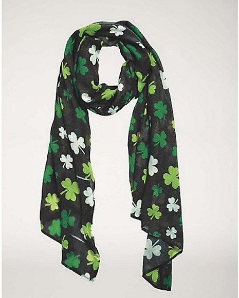 St. Pats Clover Scarf at Spencer's