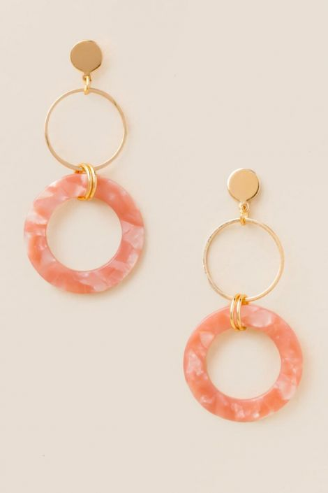 Arianna Marbled Resin Drop Earrings at francesca's