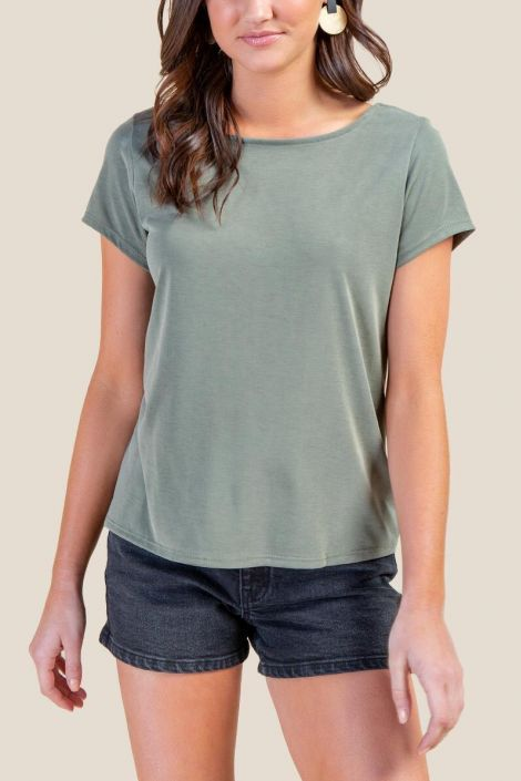Anita Twist Back Tee at francesca's