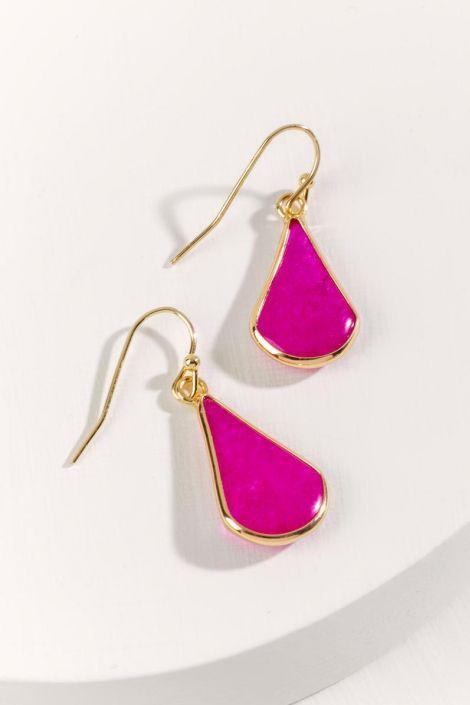 Aila Stone Drop Earrings at francesca's