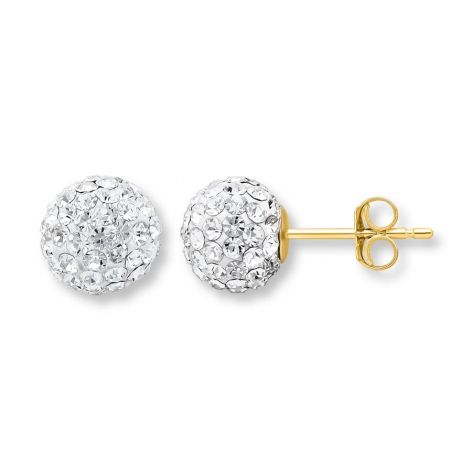 Kay - Sphere Earrings Crystals 14k Yellow Gold at Kay Jewelers