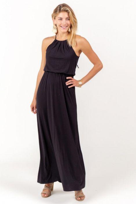 Flawless Knit Maxi Dress in Black at francesca's