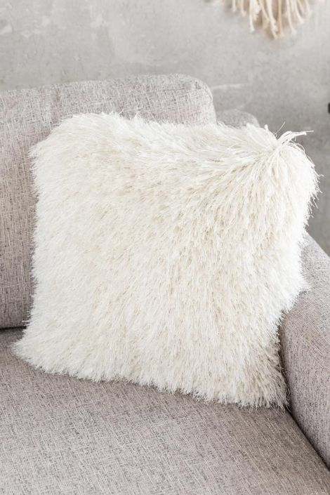 Shaggy Pillow in Ivory at francesca's