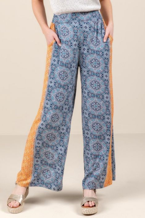 Katie Medallion Printed Pants at francesca's