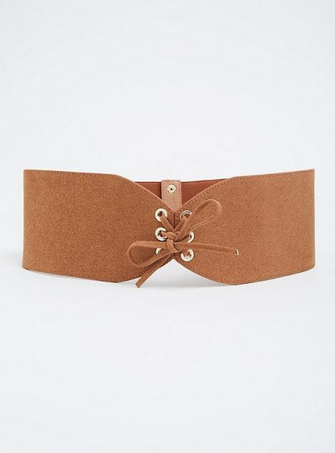 Faux Suede Wide Belt at Torrid