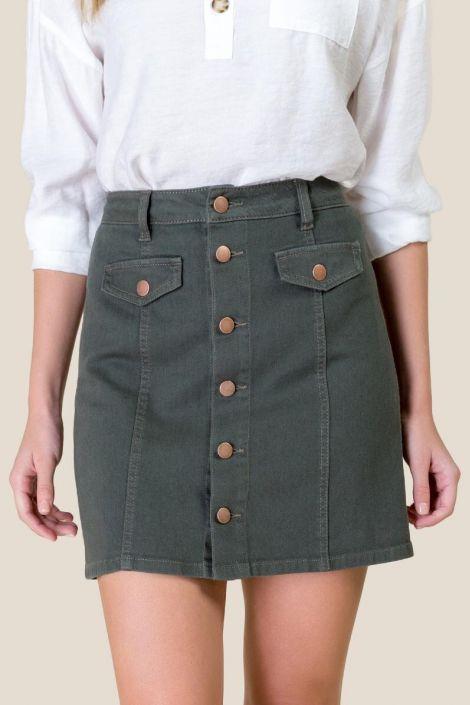 Claudia Denim Mini Skirt at francesca's