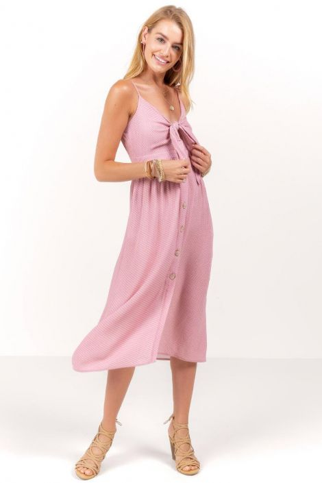 Gemma Polka Dot Midi Dress at francesca's