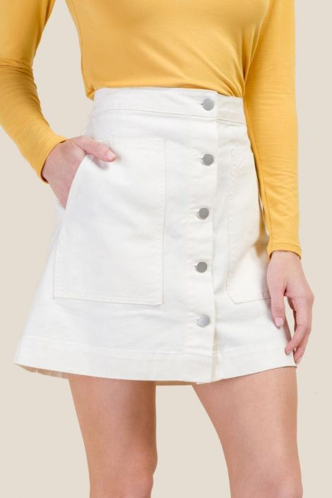 Lillian Patch Pocket Mini Skirt at francesca's