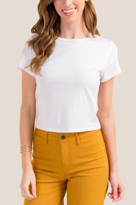 Carrie Cropped Tee at francesca's