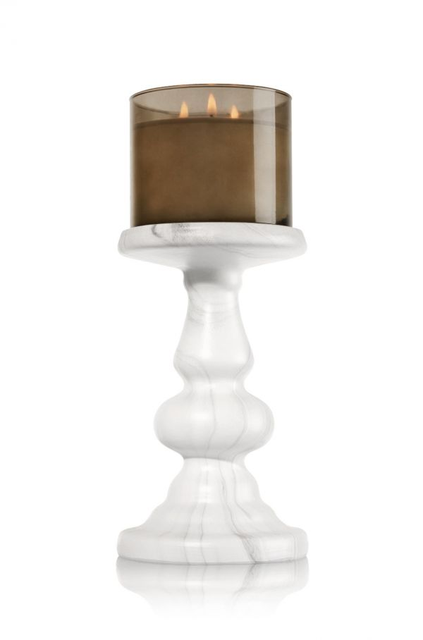 3-Wick Candle Holder TALL MARBLE PEDESTAL