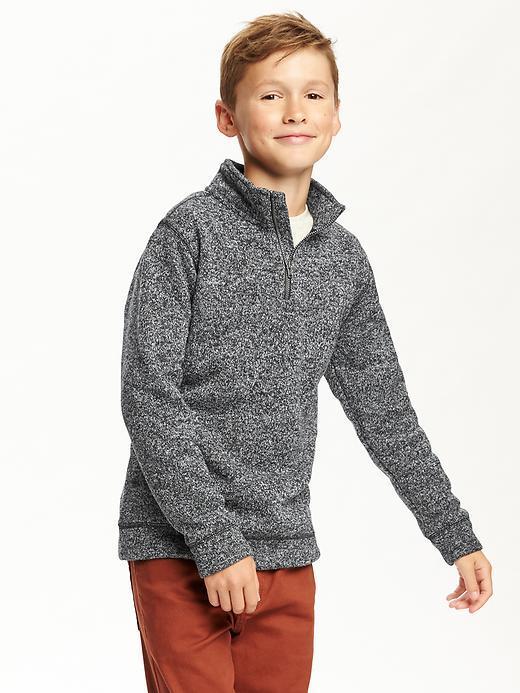 Sweater-Knit Fleece 1/2-Zip Pullover for Boys