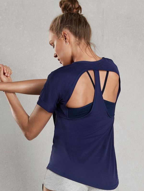 CUT-OUT RACERBACK TEE