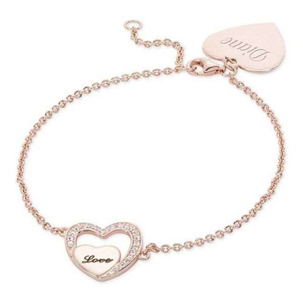 Rose Gold Sterling Silver Love Bracelet