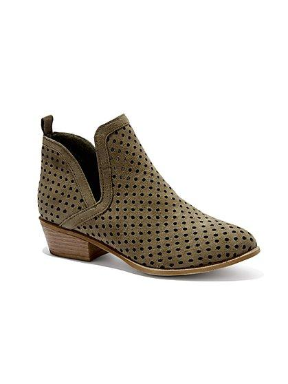 Ny&c: Perforated Ankle Boot