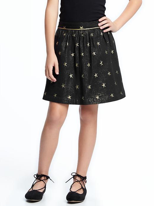 Star-Patterned Sparkle Skirt for Girls
