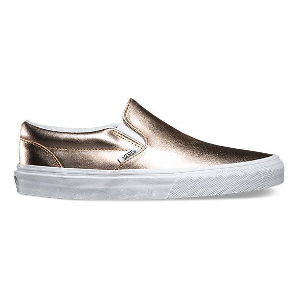 Metallic Leather Slip-on