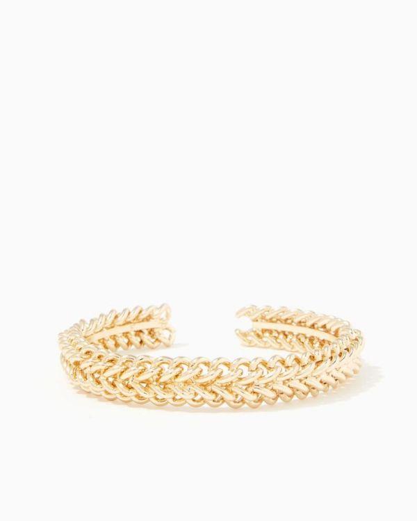 Gold Braided Chain Cuff