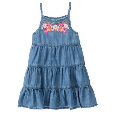 Girls Soft Chambray Chambray Dress