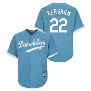 Clayton Kershaw Los Angeles Dodgers Majestic Cool Base Cooperstown Jersey (Blue)