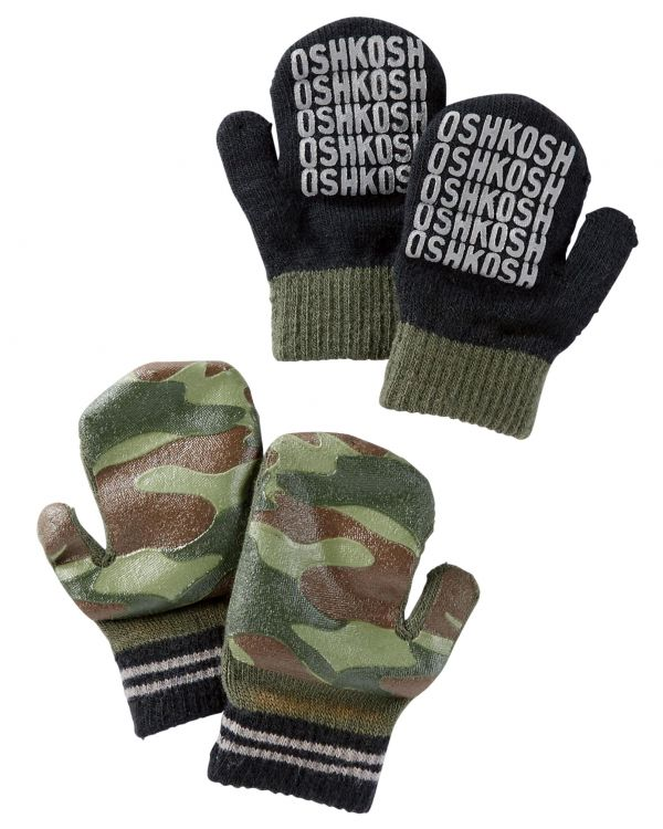 2-PACK CAMO MITTENS