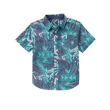 Boys Palm Print Southwest Shirt