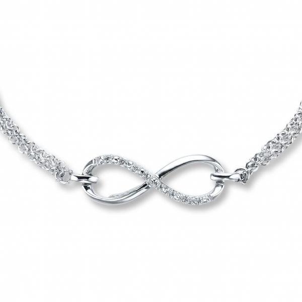 Kay - Diamond Infinity Bracelet Sterling Silver