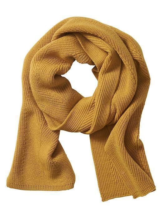 Merino Rib-Knit Scarf