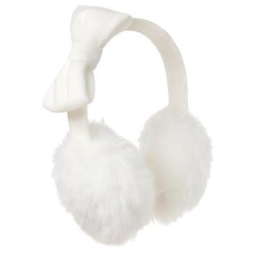 Girls Ivory Faux-fur Ear Muffs