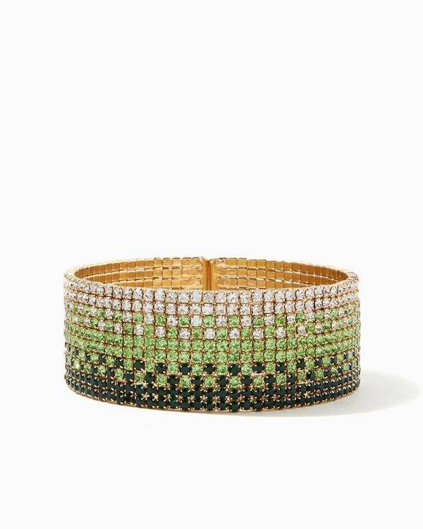 Sparkling Ombre Cuff Bracelet