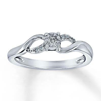 Kay - Diamond Promise Ring 1/20 Ct Tw Round-cut Sterling Silver