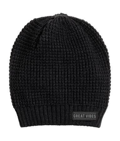 Textured-knit Hat