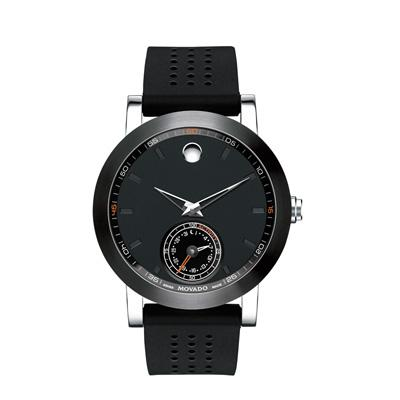 Mens' Movado Motion Museum Sport Chronograph Strap Smart Watch With Black Dial (model: 660003) - Movado