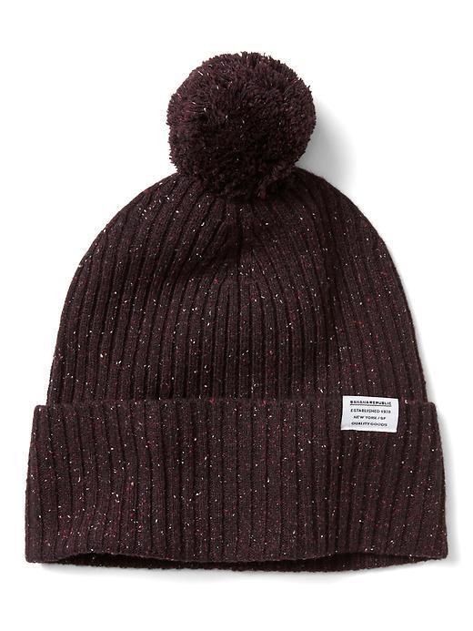 Rib-Knit Texture Beanie