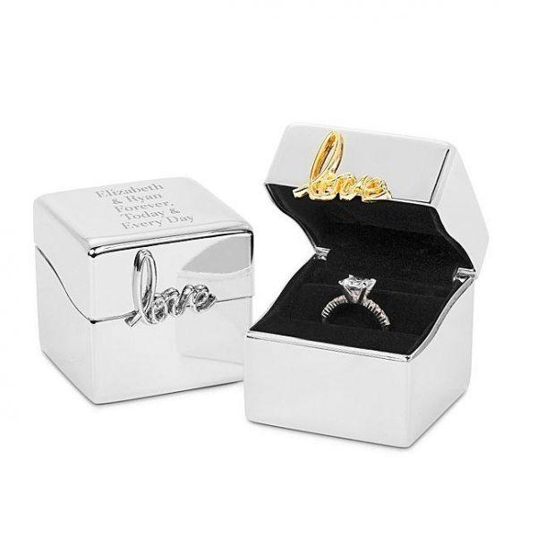 Silver Love Always Ring Box