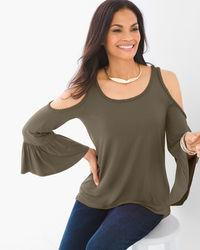 BRAIDED COLD-SHOULDER TOP