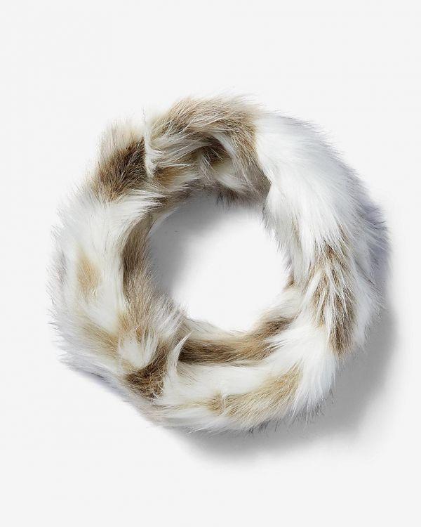 Neutral Faux Fur Stole