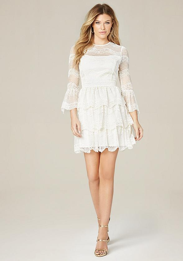Olivia Lace Tiered Dress