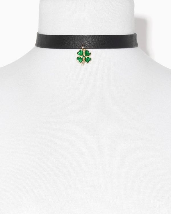 Clover Band Choker Necklace