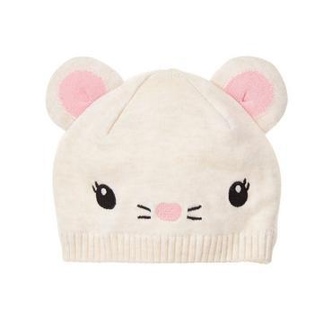 Baby Oatmeal Mouse Beanie